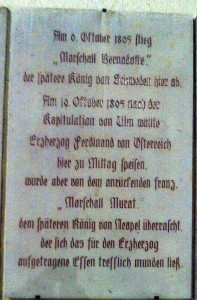 Tafel am Adlerbräu Gunzenhausen