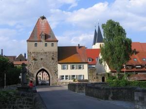 Herrieden - Torturm mit Storchennest