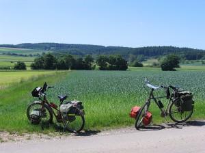 Pause am Abens-Radweg