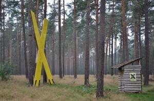 Protestlager im Wald bei Gorleben