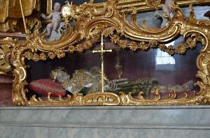 Skelett des Märtyrers St. Felix