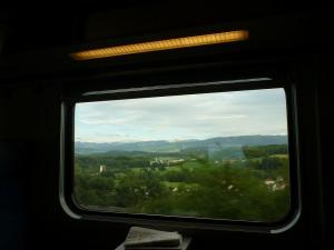 Schweiz - Blick aus dem Zugfenster