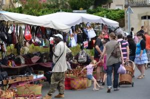 Markt in St. Cyprin