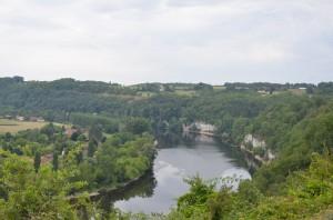 Blick auf das Tal der Dordogne