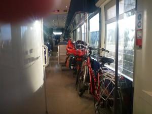 Räder im Zug ab Aurillac