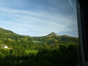 Blick aus dem Zugfenster im Cantal