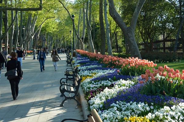 Istanbul: Park unter dem Topkapi-Serail