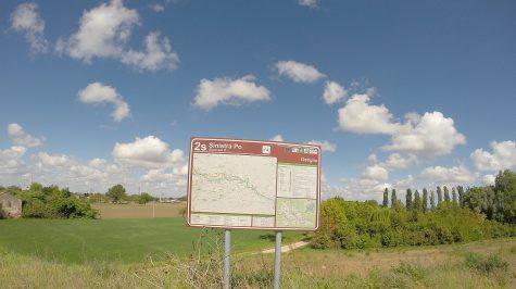 Infotafel zum Radweg Sinistra Po