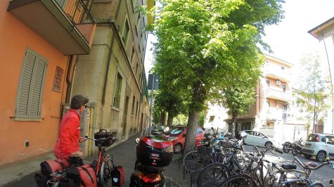 Bei unserer Unterkuft in Bologna