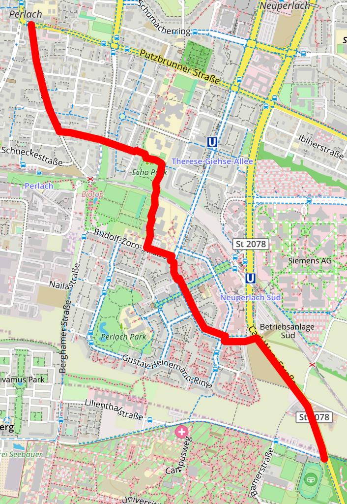 Route zum Pfanzeltplatz